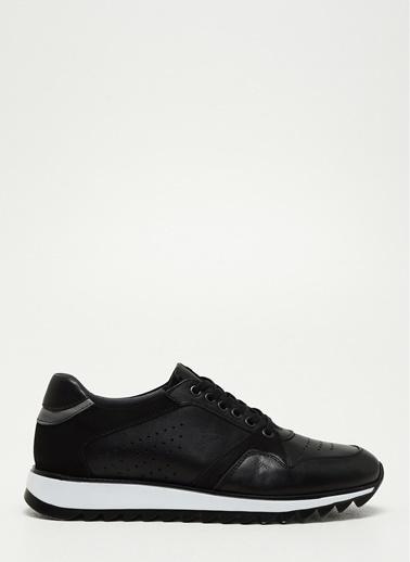 D by Divarese Deri Sneaker Siyah